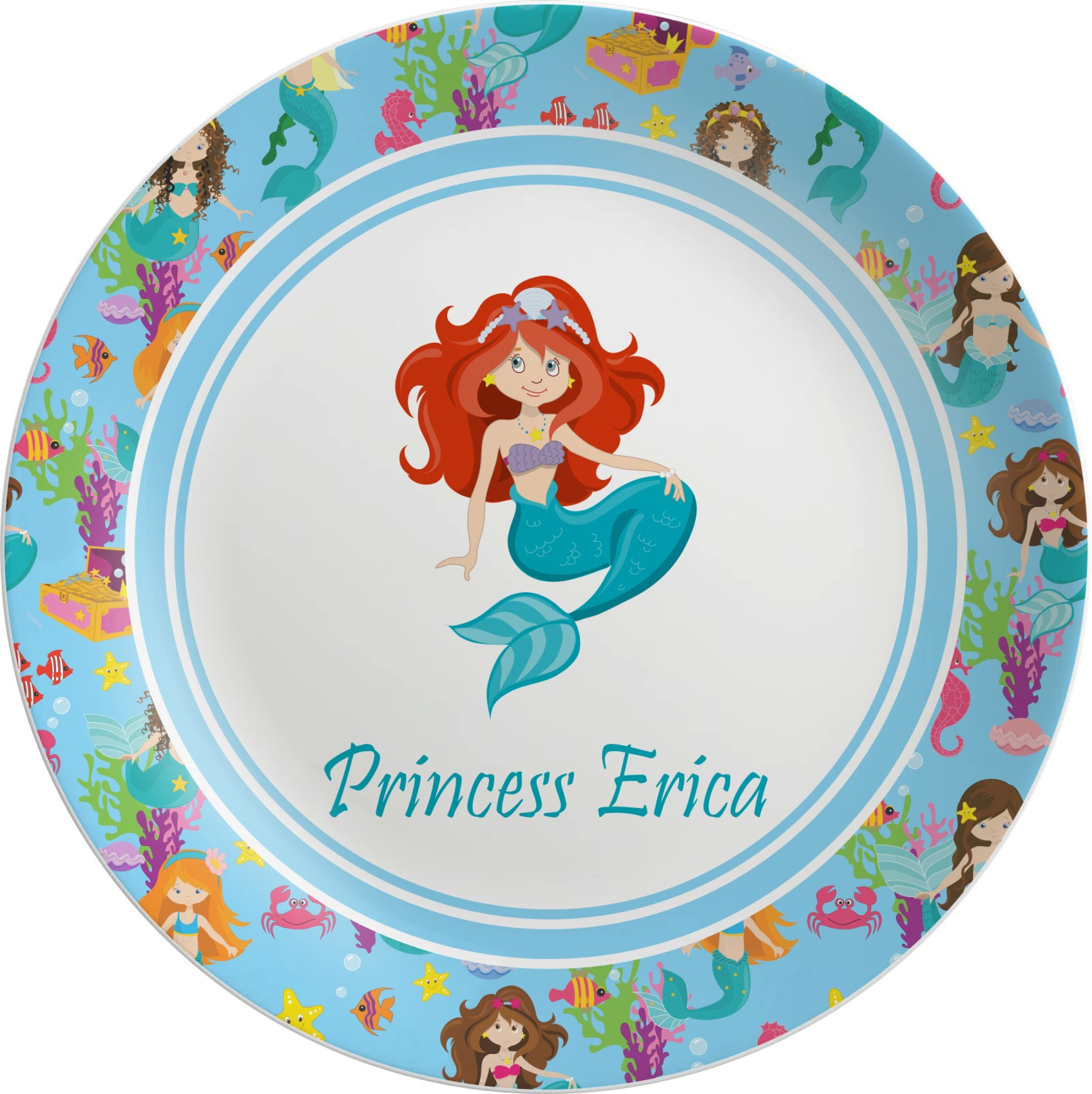 Mermaids Melamine Plate (Personalized)  sc 1 st  YouCustomizeIt & Mermaids Melamine Plate (Personalized) - YouCustomizeIt