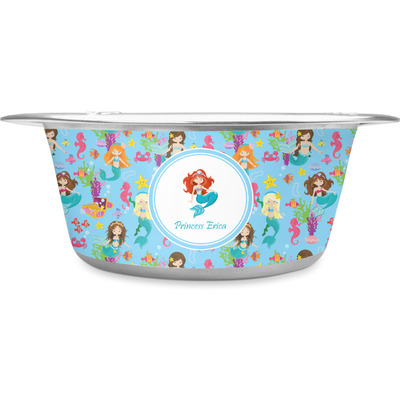 Mermaids Stainless Steel Dog Bowl (Personalized)