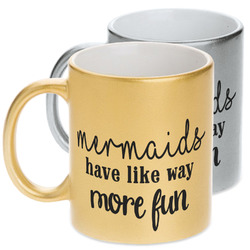 Mermaids Metallic Mug (Personalized)