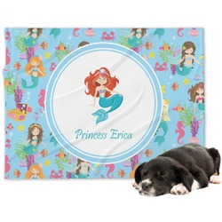 Mermaids Minky Dog Blanket (Personalized)