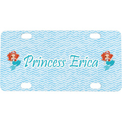 Mermaids Mini / Bicycle License Plate (4 Holes) (Personalized)