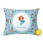 Mermaids Outdoor Throw Pillow (Rectangular) (Personalized)