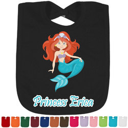 Mermaids Baby Bib - 14 Bib Colors (Personalized)