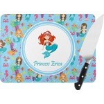 Mermaids Rectangular Glass Cutting Board (Personalized)