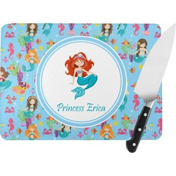 Mermaids Rectangular Glass Cutting Board (Personalized)