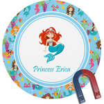 Mermaids Round Magnet (Personalized)