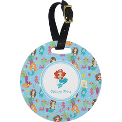 Mermaids Round Luggage Tag (Personalized)