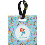 Mermaids Square Luggage Tag (Personalized)