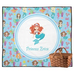 Mermaids Outdoor Picnic Blanket (Personalized)