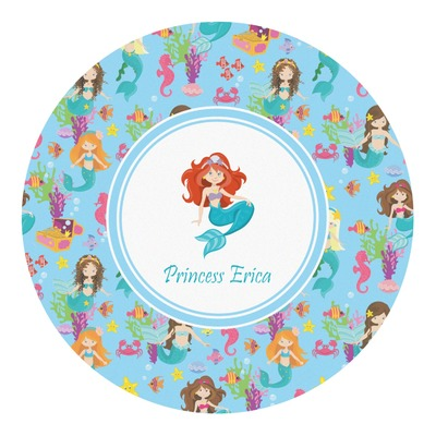 Mermaids Round Decal - Custom Size (Personalized)