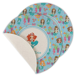 Mermaids Round Linen Placemat (Personalized)