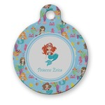 Mermaids Round Pet Tag (Personalized)