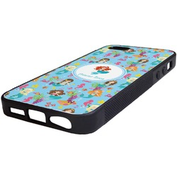 Mermaids Rubber iPhone 5/5S Phone Case (Personalized)