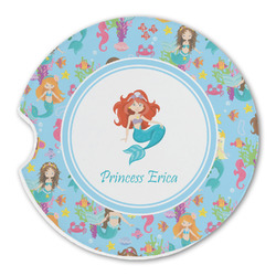Mermaids Sandstone Car Coasters (Personalized)