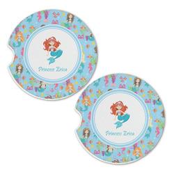 Mermaids Sandstone Car Coasters - Set of 2 (Personalized)
