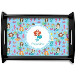 Mermaids Black Wooden Tray (Personalized)
