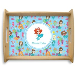 Mermaids Natural Wooden Tray - Large (Personalized)