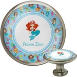 Mermaids Cabinet Knob (Silver) (Personalized)