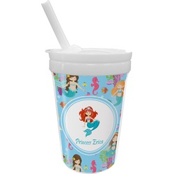 Mermaids Sippy Cup with Straw (Personalized)