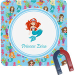 Mermaids Square Fridge Magnet (Personalized)