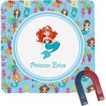 Mermaids Square Fridge Magnet (Personalized)