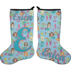 Mermaids Holiday Stocking - Double-Sided - Neoprene (Personalized)
