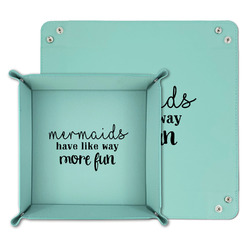 Mermaids Teal Faux Leather Valet Tray (Personalized)