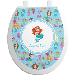 Mermaids Toilet Seat Decal - Round (Personalized)