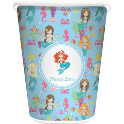 Mermaids Waste Basket - Double Sided (White) (Personalized)