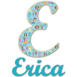 Mermaids Name & Initial Decal - Custom Sized (Personalized)