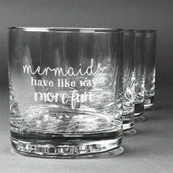 Mermaids Whiskey Glasses (Set of 4) (Personalized)