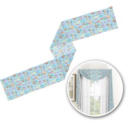 Mermaids Window Sheer Scarf Valance (Personalized)