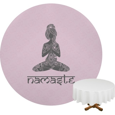 """Lotus Pose Round Table Cloth - 70"""" (Personalized)"""