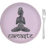 "Lotus Pose Glass Appetizer / Dessert Plates 8"" - Single or Set (Personalized)"