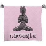 Lotus Pose Full Print Bath Towel (Personalized)
