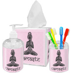 Lotus Pose Bathroom Accessories Set (Personalized)