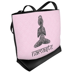 Lotus Pose Beach Tote Bag (Personalized)