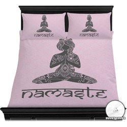 Lotus Pose Duvet Cover Set (Personalized)
