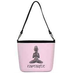 Lotus Pose Bucket Bag w/ Genuine Leather Trim (Personalized)