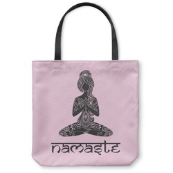 "Lotus Pose Canvas Tote Bag - Small - 13""x13"" (Personalized)"