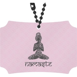 Lotus Pose Rear View Mirror Ornament (Personalized)