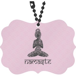 Lotus Pose Rear View Mirror Charm (Personalized)