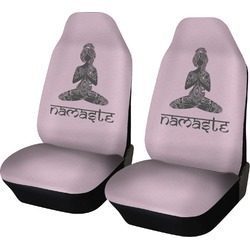 Lotus Pose Car Seat Covers (Set of Two) (Personalized)