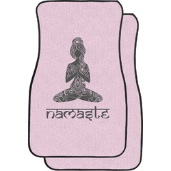 Lotus Pose Car Floor Mats (Front Seat) (Personalized)
