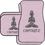 Lotus Pose Car Floor Mats Set - 2 Front & 2 Back (Personalized)