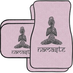 Lotus Pose Car Floor Mats (Personalized)
