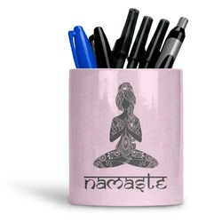 Lotus Pose Ceramic Pen Holder