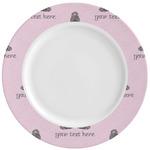 Lotus Pose Ceramic Dinner Plates (Set of 4) (Personalized)