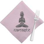 Lotus Pose Napkins (Set of 4) (Personalized)