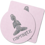Lotus Pose Rubber Backed Coaster (Personalized)